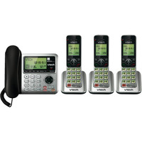 VTech 3-Handset DECT 6.0 Corded/Cordless Phone with Answering Machine (CS6649-3) : Corded/Cordless Phones - Future Shop