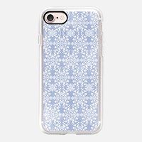 Flower lace_blue iPhone 7 Case by Kanika Mathur | Casetify
