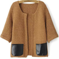 Chocolate Knitted Cardigans