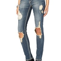Blown Out & Whiskered Skinny Jean