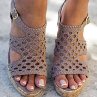 Finch Taupe Wedges