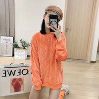 LV Fashion Loose Long Sleeve Irregular Cardigan Jacket Coat  Fall Winter Fashion Long Sleeve Hoodie