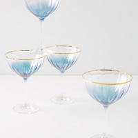 Waterfall Coupe Glasses, Set of 4