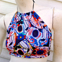 Sugar Skull Halter top one size fits most Day of the Dead