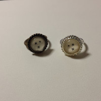 """Harry Potter """"Chapter Stars"""" Sized Plated Ring made using Actual Book Pages - CHOOSE size and finish"""