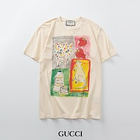 GUCCI Men's and women's printed T-shirt