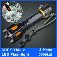 Strong Light CREE XML-T6 LED 2000LM Waterproof Rechargeable Led Flashlight Multifunction Torches Camping Hunting Flashlight