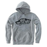 VANS Casual Long Sleeve Plus Velvet Hooded Top Sweater Pullover Hoodie