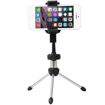 Universal Adjustable Phone Holder Tripod Mount with Rotatable Clip Stand for iPhone 6/iPhone 6 Plus (Color: Black) = 1843182084