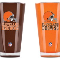 Duck House Cleveland Browns Tumblers  Set Of 2 20 Oz