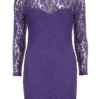 Purple lace sweetheart bodycon