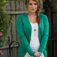 The Amelia Cardigan - Kelly Green