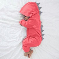 Dinosaur Spiked Cotton Romper (3 Colors)