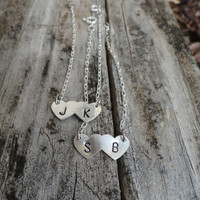 Tiny Silver Heart Couples Bracelet