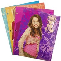 Hannah Montana Assorted Folders (4 Piece) - 4 Piece Hannah Montana Folders