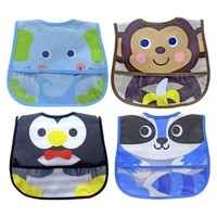 Neat Solutions® 4pk Animal Character Bib Set - Blue