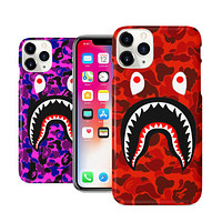 Red or Purple Camo Shark Mouth iPhone 11 11 Pro Max Case