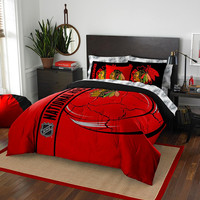 Chicago Blackhawks NHL Full Comforter Bed in a Bag (Soft & Cozy) (76in x 86in)