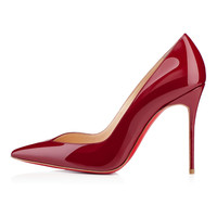 Amourplato Women's High Heel Fashion Pointed Arch Toe Dark Red Pumps Shoes