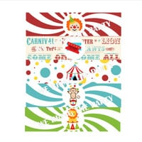 Circus Birthday Party Water Bottle Labels