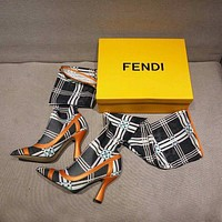 Fendi Fashion And Leisure High Hosiery Boots