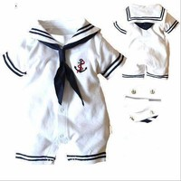 Baby romper,new 2016,summer clothing,newborn,baby boy clothes,navy style clothing,baby overall,baby bodysuit