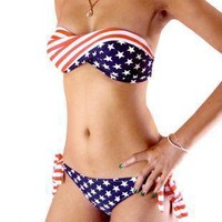 Flag Bikini Stars Stripe Swimsuit