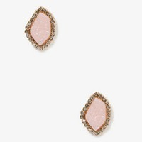 Frosted Faux Stone Studs