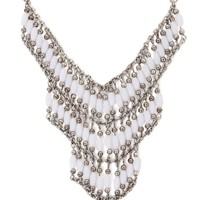 With Love From CA Layered Bead Necklace - Womens Jewelry - White - One