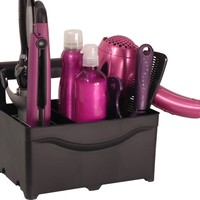 STYLEAWAY - BLACK; Curling Iron, Flat Iron, Blow Dryer, Hair Styling Products Holder / Hanger