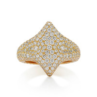 Adina 18K Gold Diamond Signet Ring | Moda Operandi