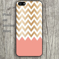 Chevron golden pink iphone 6 6 plus iPhone 5 5S 5C case Samsung S3,S4,S5 case Ipod Silicone plastic Phone cover Waterproof
