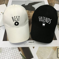 Best Friends Donut And Coffee Duo Hat set - Matching Baseball hat , junk food , Couples Hats, Low-Profile Baseball Cap Baseball Hat