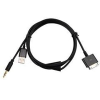 Dock Car audio Aux 3.5mm USB charger Cable For iPhone free shipping