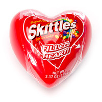 Skittles Original Candy Filled Plastic Hearts: 12-Piece Display