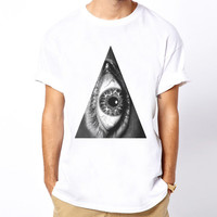 Triangle Eye hipster indie Illuminati dope religion trill hype symbol sign t-shirt