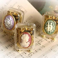 Set of 3 Cameo Music Boxes