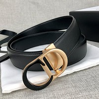 Dior classic CD two-color letter buckle fashion men's and women's belt