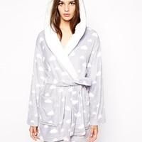 Oysho Clouds Dressing Gown