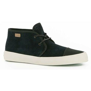 VANS Rhea SF (Square Perf) Black Suede Mid Boots Womens Size 9.5