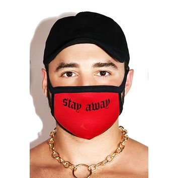 Stay Away Face Mask- Red