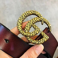 GG New Vintage Individual Snake Double G Buckle Belt