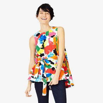 Kate Spade Saturday Trapeze Top In Freestyle