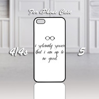 i solemnly swear that i am harry potter, Design For iPhone 4/4s Case or iPhone 5 Case - Black or White (Option)