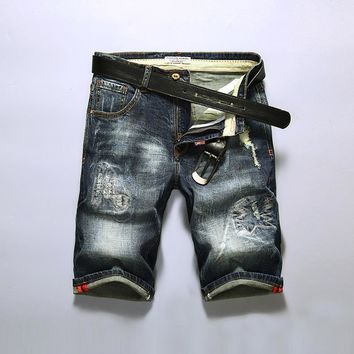 Ripped Holes Denim Summer Slim Stylish Shorts [3444984447069]
