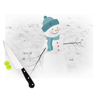 "Robin Dickinson ""Frosty"" White Cutting Board"