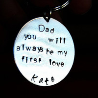Father of the Bride Keychain, Gift for Father of the Bride, Personalized Nickel silver keychain, complete boxed gift set for father of bride