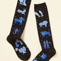Zodiac on the Floor Socks | Mod Retro Vintage Socks | ModCloth.com