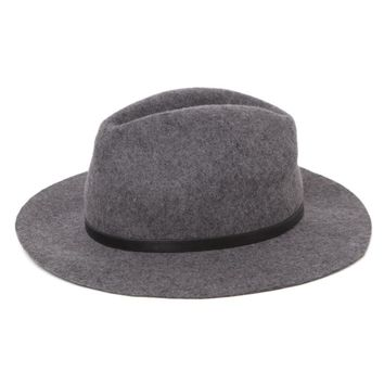 With Love From CA Buckle Trim Panama Hat - Womens Hat - Grey - One