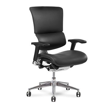 X Chair Office Desk Chair (X4 Black Leather Wide) Ergonomic Lumbar Support Task Chair Breathable Mesh, Adjustable Arms, Executive, Drafting, Gaming Computer Home or Office Chair Black-wide-no-hr